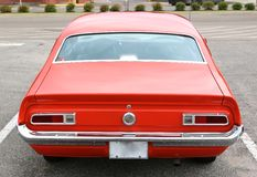 Rear View of a 1965 Ford Maverick Antique Car Stock Photography