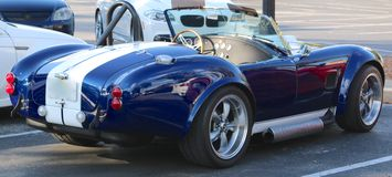 Rear view of 1969 Ford Shelby Cobra Stock Photo