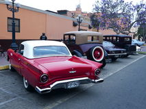 Rear view of a Ford Thunderbird coupe in Lima Stock Image