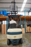 Rear view of forklift machine Stock Image