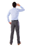 Rear view full body Asian businessman Stock Photos