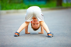 Rear view of funny little boy Stock Photography