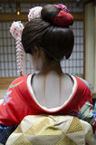 Rear View Geisha neck make-up Royalty Free Stock Photography