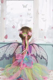 Rear View Of Girl In Fairy Costume Royalty Free Stock Photos