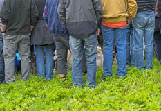 Rear view of group of people Royalty Free Stock Photo