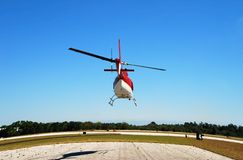 Rear view of helicopter taking Royalty Free Stock Image
