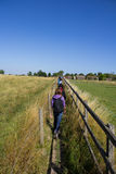 Rear View of Hikers in the Chiltern Hills Royalty Free Stock Photography