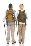 Rear view hiking couple Royalty Free Stock Photo