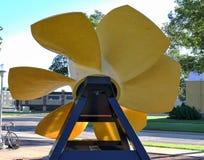 Rear view of hydro turbine Stock Image