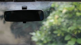 Rear View Interior Car Mirror stock footage