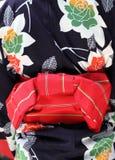 Rear view of Japanese Kimono Royalty Free Stock Photos