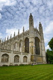 Rear View of Kings College Chapel and Lawn royalty free stock images