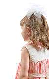 Rear View a Little Girl Royalty Free Stock Photography