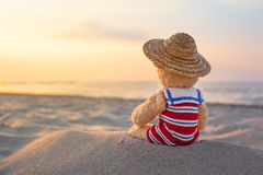 Little Cutie at Beach Holiday stock photography