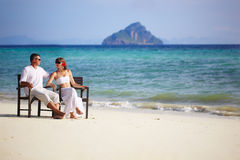 Rear view of loving couple Royalty Free Stock Image