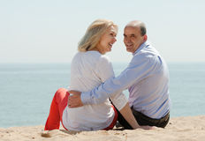 Rear view of loving mature couple Royalty Free Stock Image