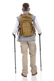 Rear view male hiker Royalty Free Stock Photography
