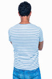 Rear view of man with arms crossed Royalty Free Stock Photo