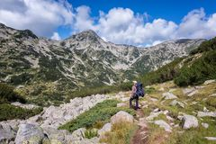 Summer hiking in Rila Mountains stock photos