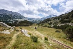 Summer hiking in Rila Mountains stock image
