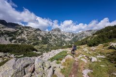 Summer hiking in Rila Mountains royalty free stock photo