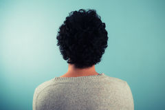 Rear view of man with curly hair Royalty Free Stock Photography