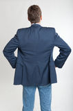 Rear view of man looking at something Stock Photos