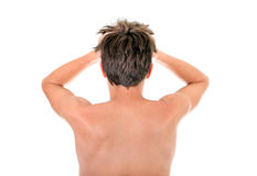 Rear View of the Man Royalty Free Stock Images