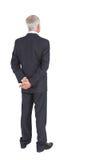 Rear view of mature businessman posing Stock Photos
