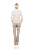 Rear view middle aged woman Royalty Free Stock Photography