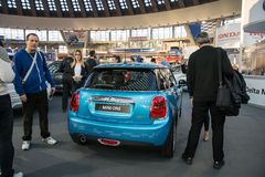 Rear view of Mini one car Stock Photography