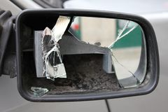 Rear view mirror Royalty Free Stock Photos