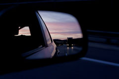 Rear view mirror Stock Photo