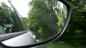 Rear-view mirror Stock Images