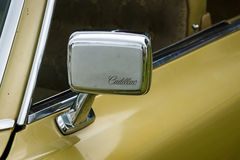 Rear-view mirror of a Cadillac de Ville series Royalty Free Stock Photos