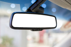 Rear view mirror. In the car Royalty Free Stock Images