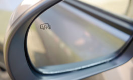 Rear view mirror Stock Images