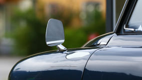 Rear view mirror of a classic car Royalty Free Stock Images