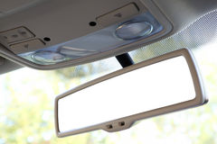Rear view mirror with clipping path. Blank rear view mirror with a clipping path Royalty Free Stock Images