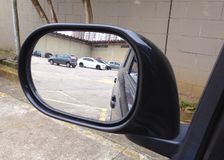 Rear view mirror Stock Photography