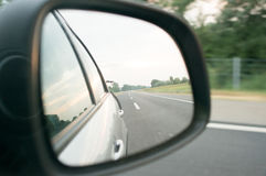 Rear view mirror Royalty Free Stock Image