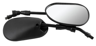 Rear view Mirror Motorcycle. Motorcycle parts, isolated mirror Royalty Free Stock Photo