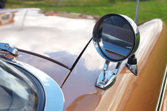 Rear-view mirror of retro car Royalty Free Stock Image