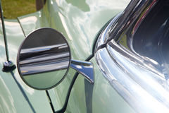 Rear-view mirror of retro car Royalty Free Stock Images