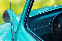 Rear-view mirror of retro car Stock Image