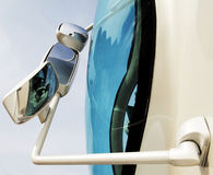 Rear view mirrors of  a vehicle Stock Photography