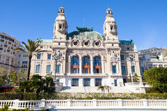 Rear view of Monte-Carlo casino Royalty Free Stock Photos