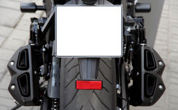 Rear view of motorcycle Stock Photography