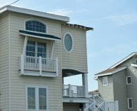 Rear view oceanfront home eastern shore virginia Royalty Free Stock Photos