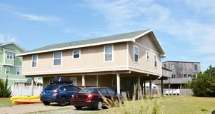 Rear view oceanfront home eastern shore virginia Royalty Free Stock Image